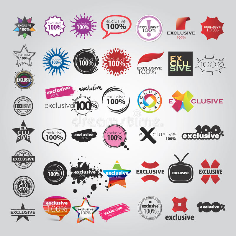 Free Vector The Collection Of Logos Signs Pointers Stock Photos - 30139183