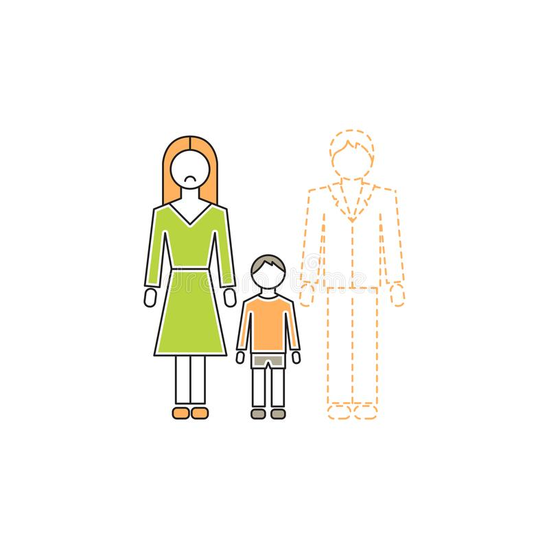 Single Mother Icon Stock Vector Illustration Of Conflict 120287201