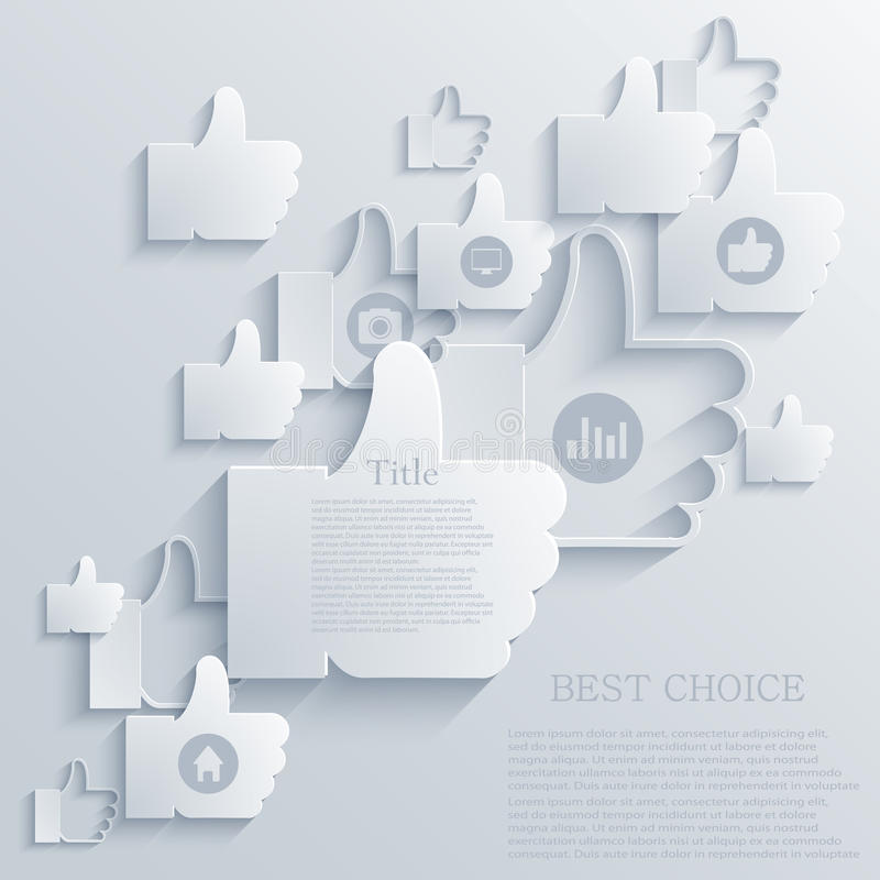 Vector thumb up icon background. Eps10. See my other works in portfolio stock illustration