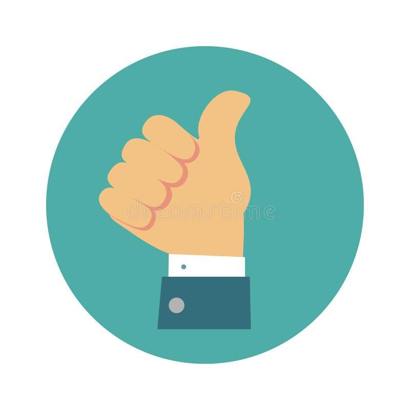 Vector thumb up icon. Thumb up icon. Stock flat vector illustration vector illustration