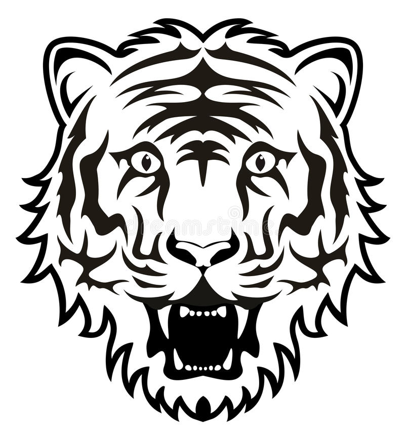 Free Vector Tiger Face Royalty Free Stock Image - 36254516