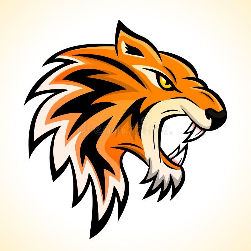 Vector tiger head mascot concept royalty free illustration