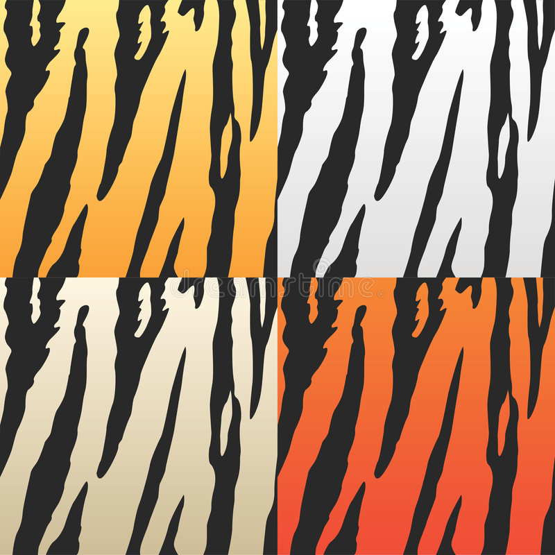 Vector tijgerhuiden royalty-vrije illustratie