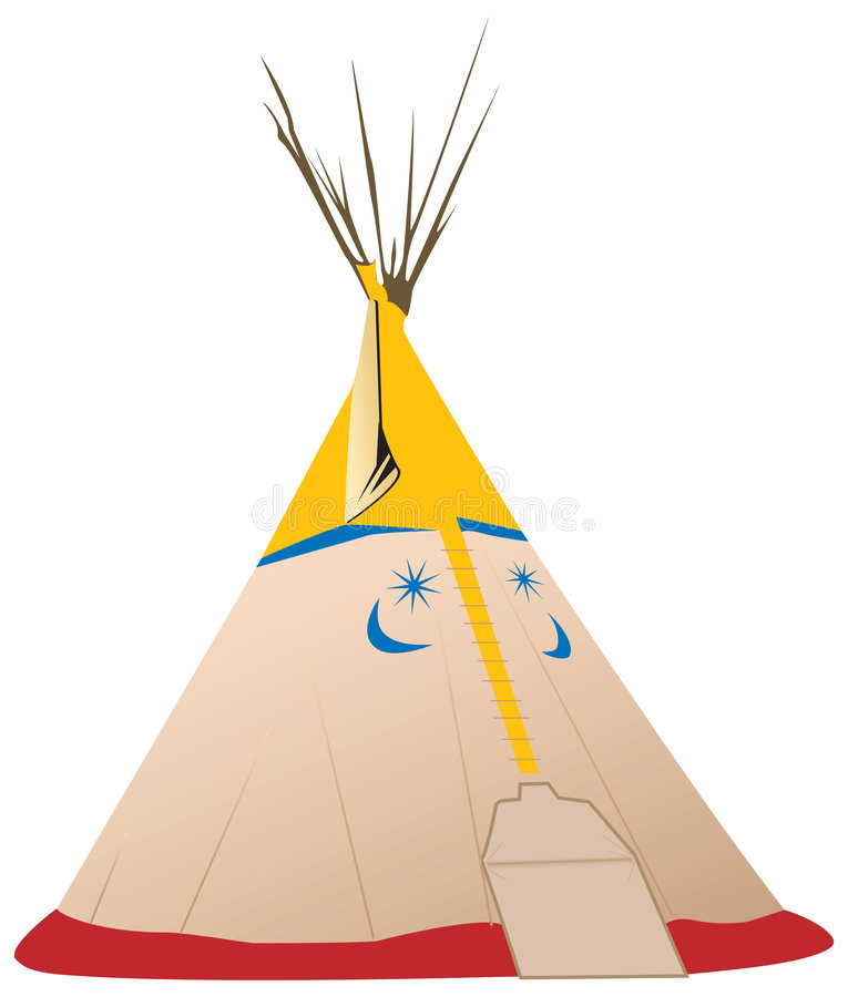 Free Vector Tipi Illustration - Native American Stock Photography - 8678712