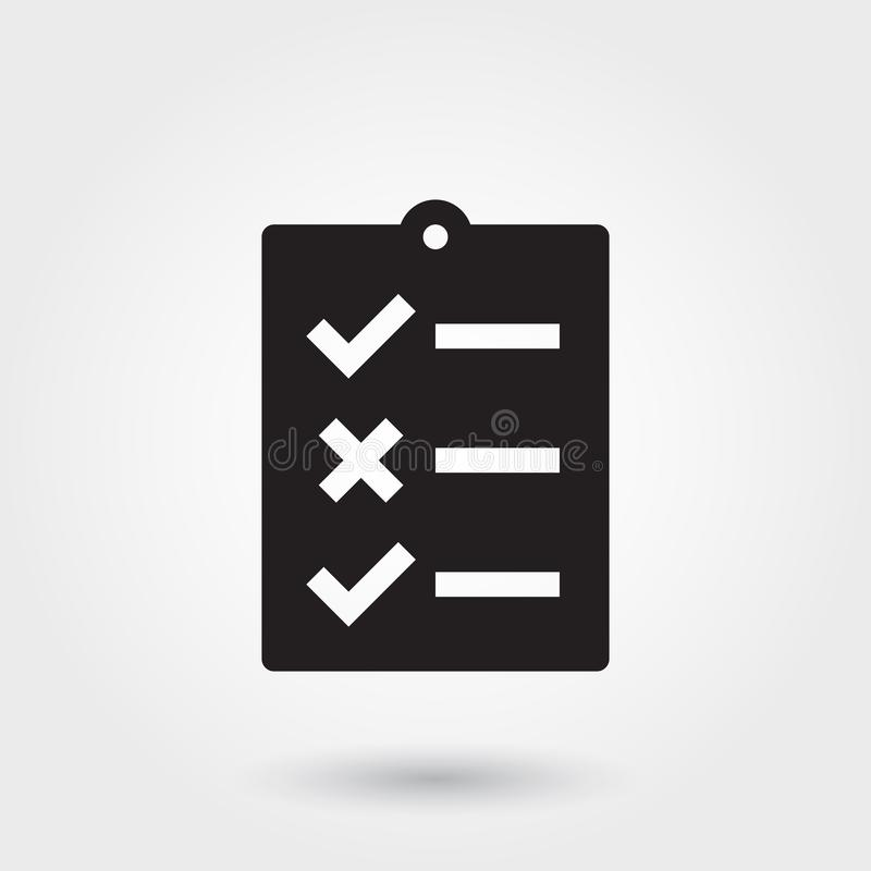 Vector, To do list, Glyph Icon perfect for website, mobile apps, presentation stock illustration