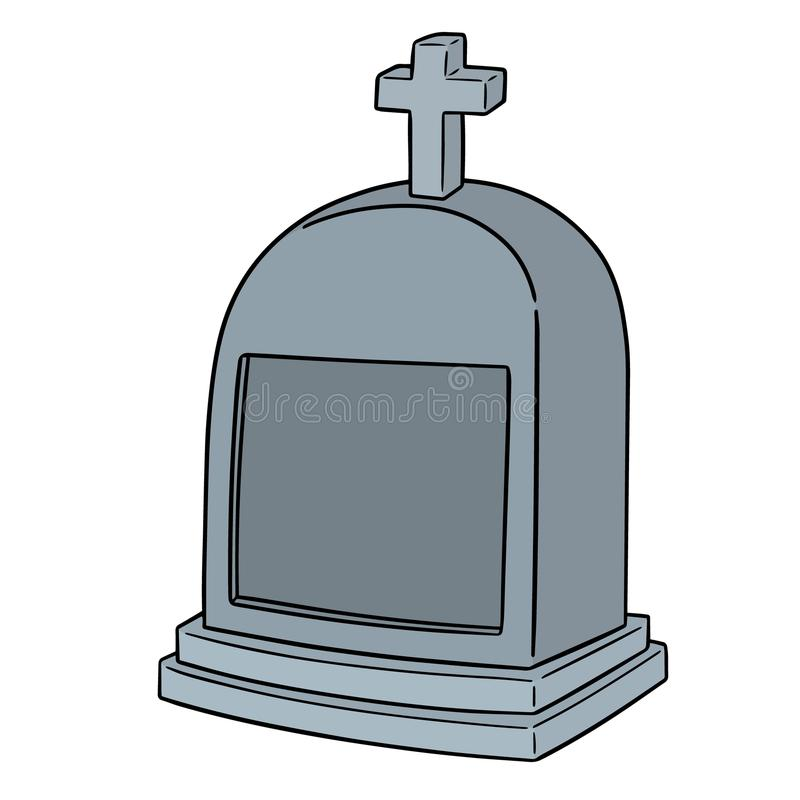 Vector of tombstone. Hand drawn cartoon, doodle illustration vector illustration