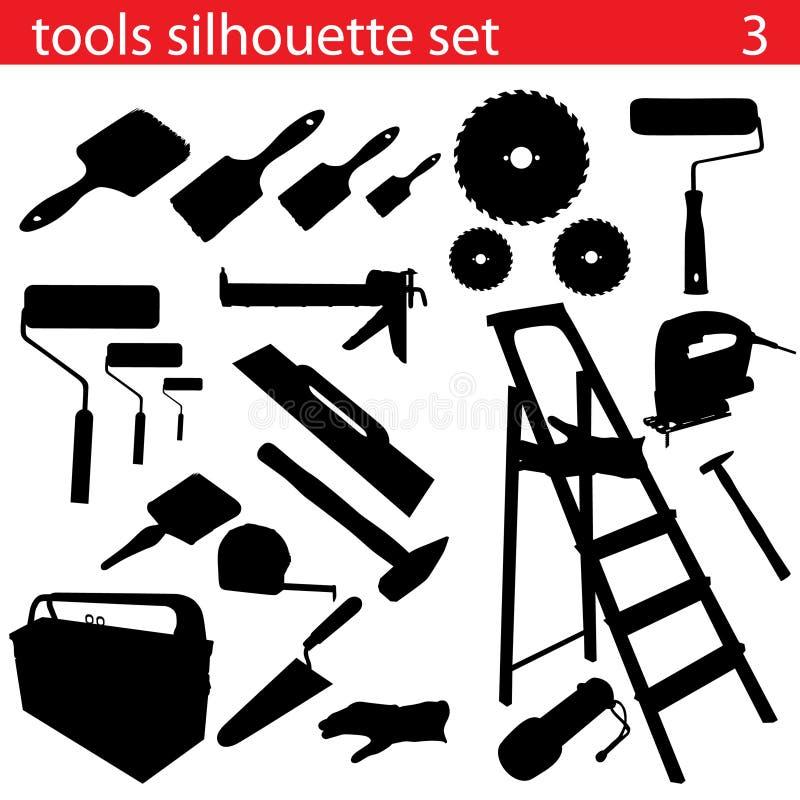 Free Vector Tools Silhouette Set Stock Photos - 11036403