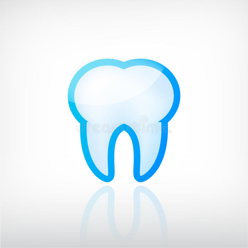 Vector tooth dental icon. Vector medical tooth dental icon logo isolated royalty free illustration