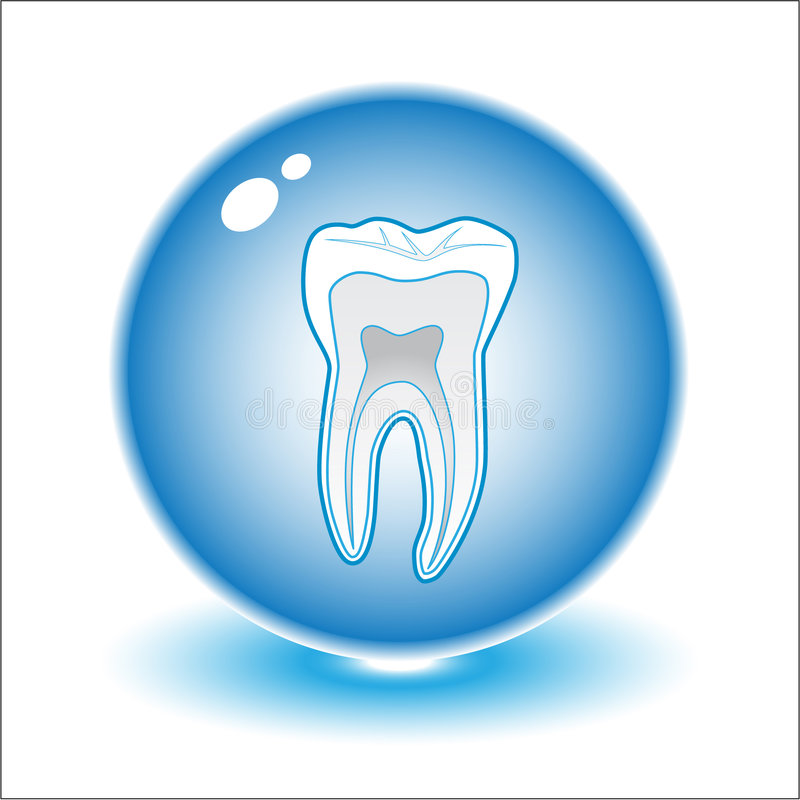 Free Vector Tooth Illustration Royalty Free Stock Image - 5530056