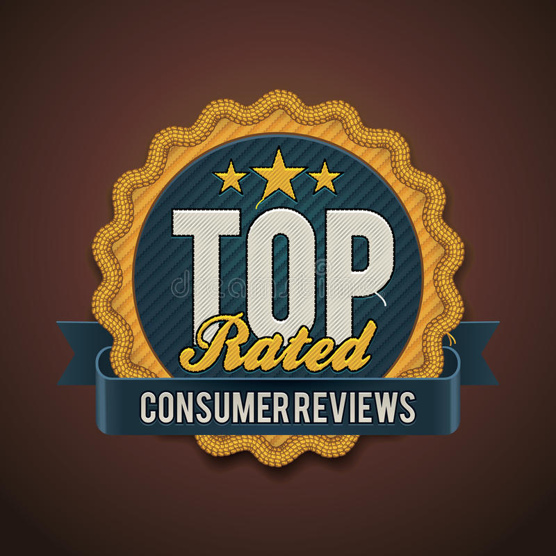 Download Vector Top Rated Badge Royalty Free Stock Images - Image: 27047489