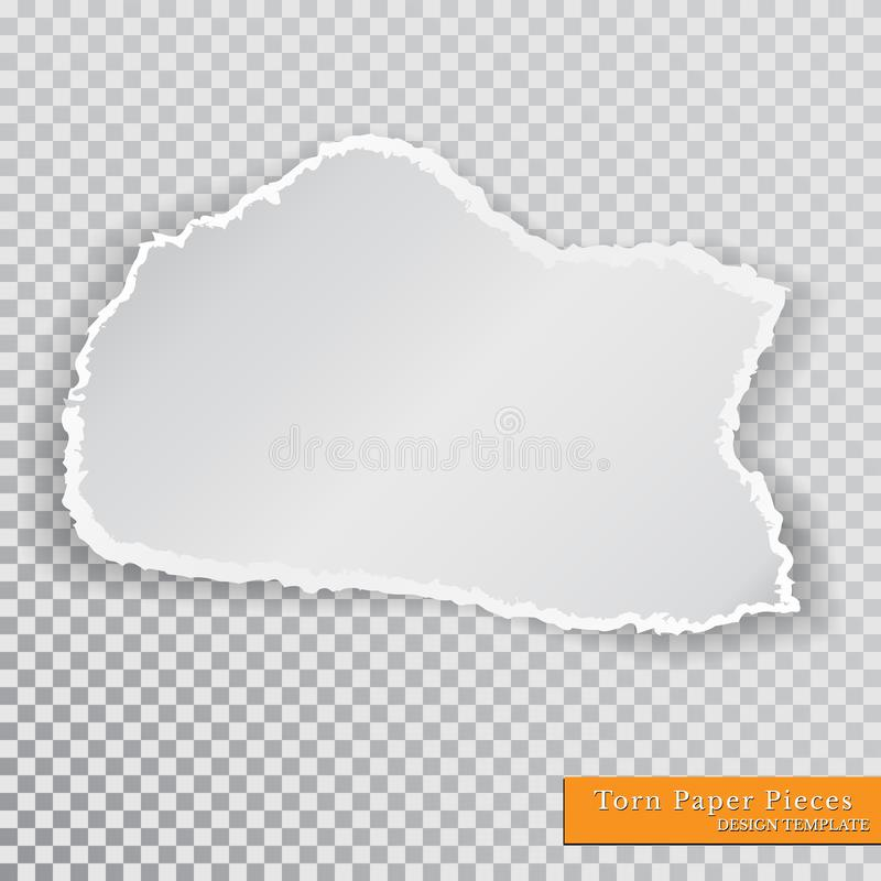 Vector Torn Paper Pieces Transparent Background Template Paper