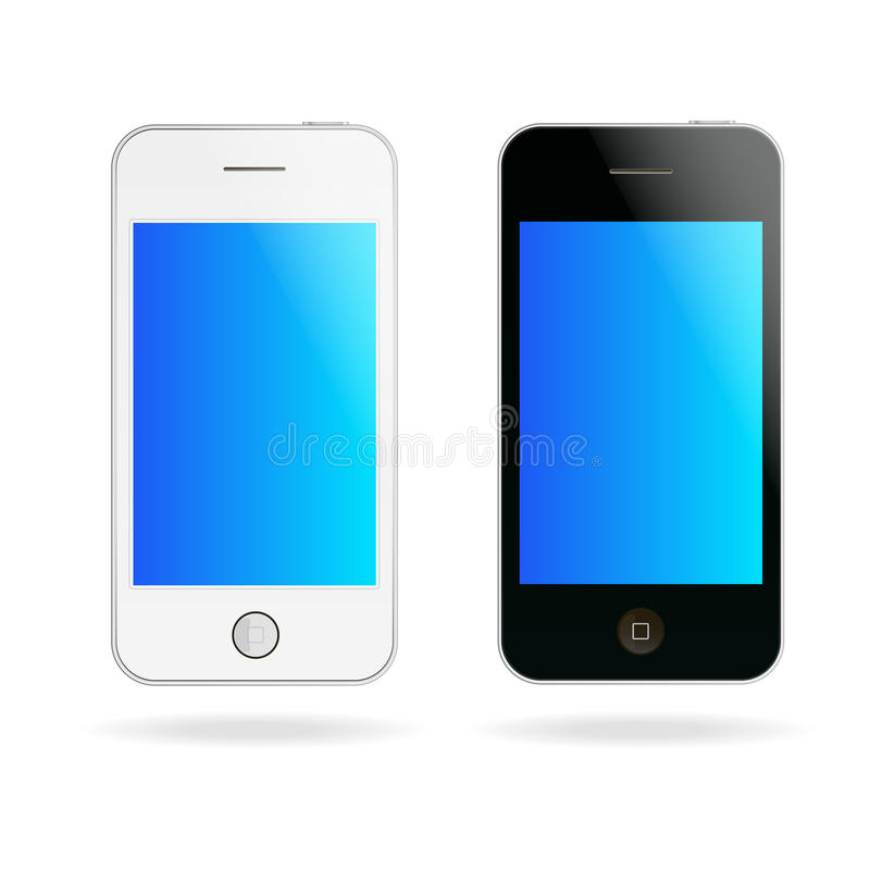 Download Vector touch phones stock vector. Image of object, call - 27992522