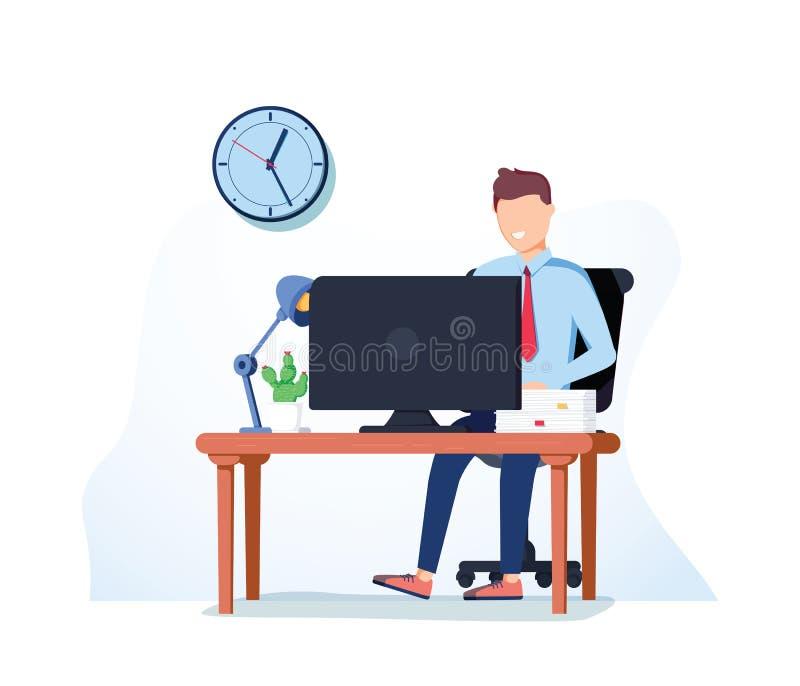 Vector trabajador del icono del hombre de negocios Brainst de trabajo del hombre de negocios ilustración del vector