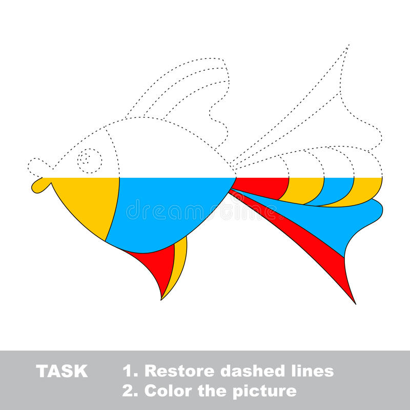 Vector trace game. Umbrella to be colored. Vector colorful umbrella to be traced. Restore dashed line and color the picture. Worksheet to be colored stock illustration