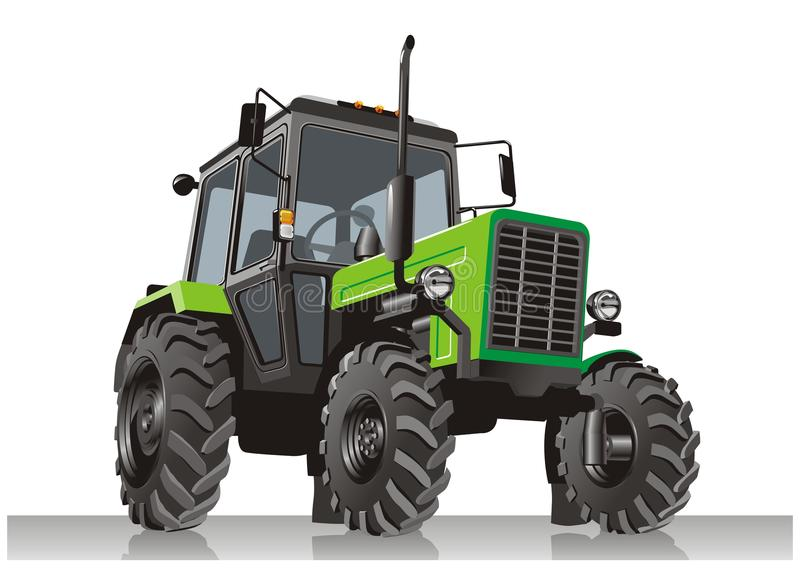 Vector tractor stock illustration