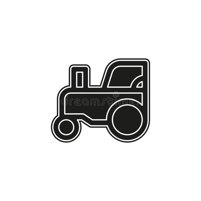 vector Tractor illustration, farm vehicle, agriculture machine vector illustration