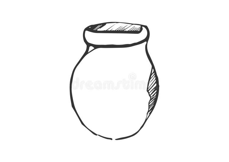 Vector tradicional del icono del garabato del jarro ilustración del vector