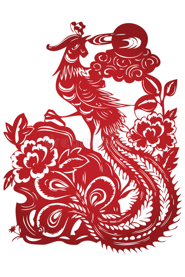Vector Of Traditional Chinese Paper-cut Stock Image