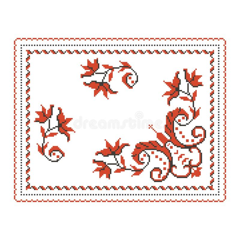 Vector traditional pattern motif royalty free stock photo