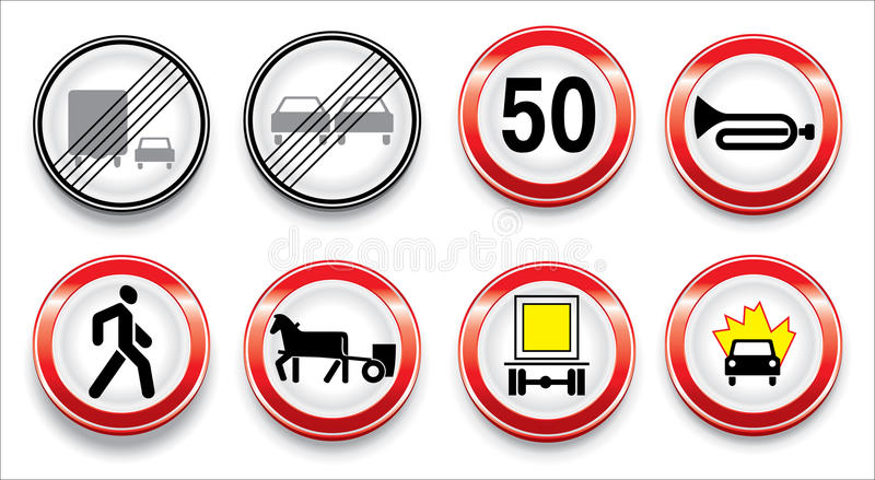Download Vector Traffic Signs Collection Stock Vector - Image: 10162043