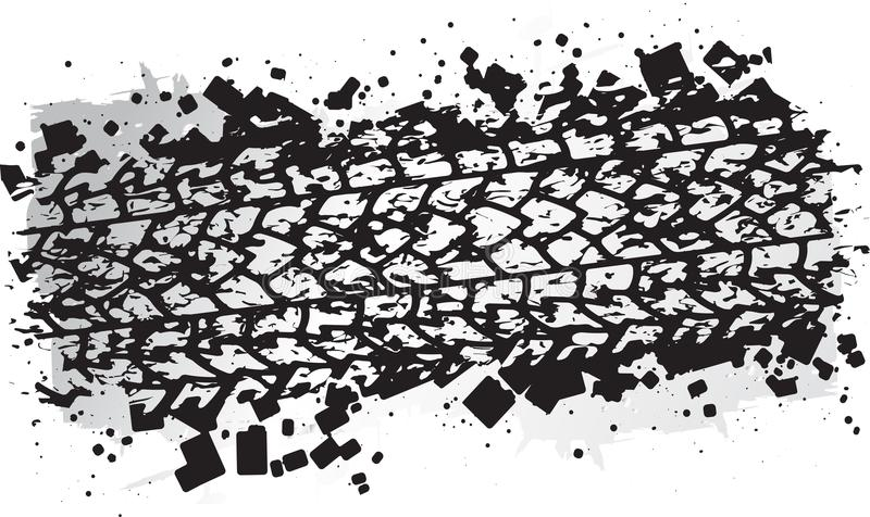 Vector trail design, trace of the tyre in grunge style.  royalty free illustration