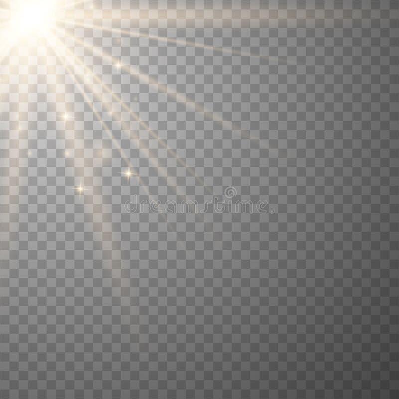 Vector transparante zonlicht speciale lens stock illustratie