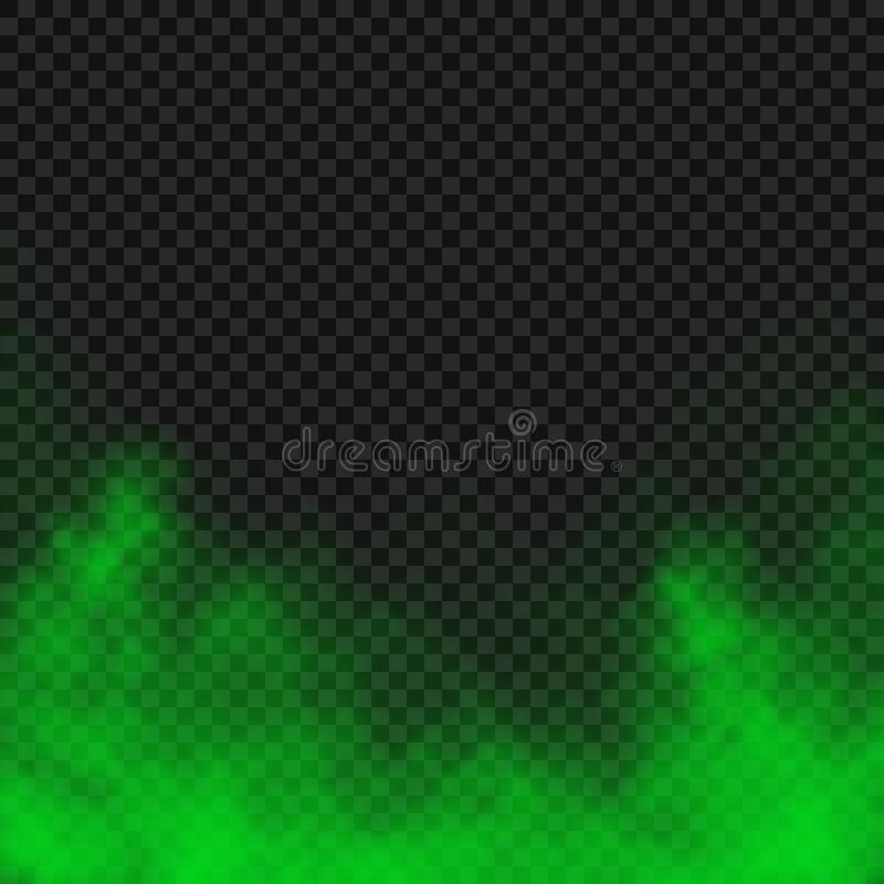 Free Vector Transparent Effect Of Green Fog Or Smoke Royalty Free Stock Image - 174693046