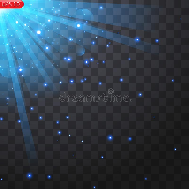 Star burst with sparkles stock illustration