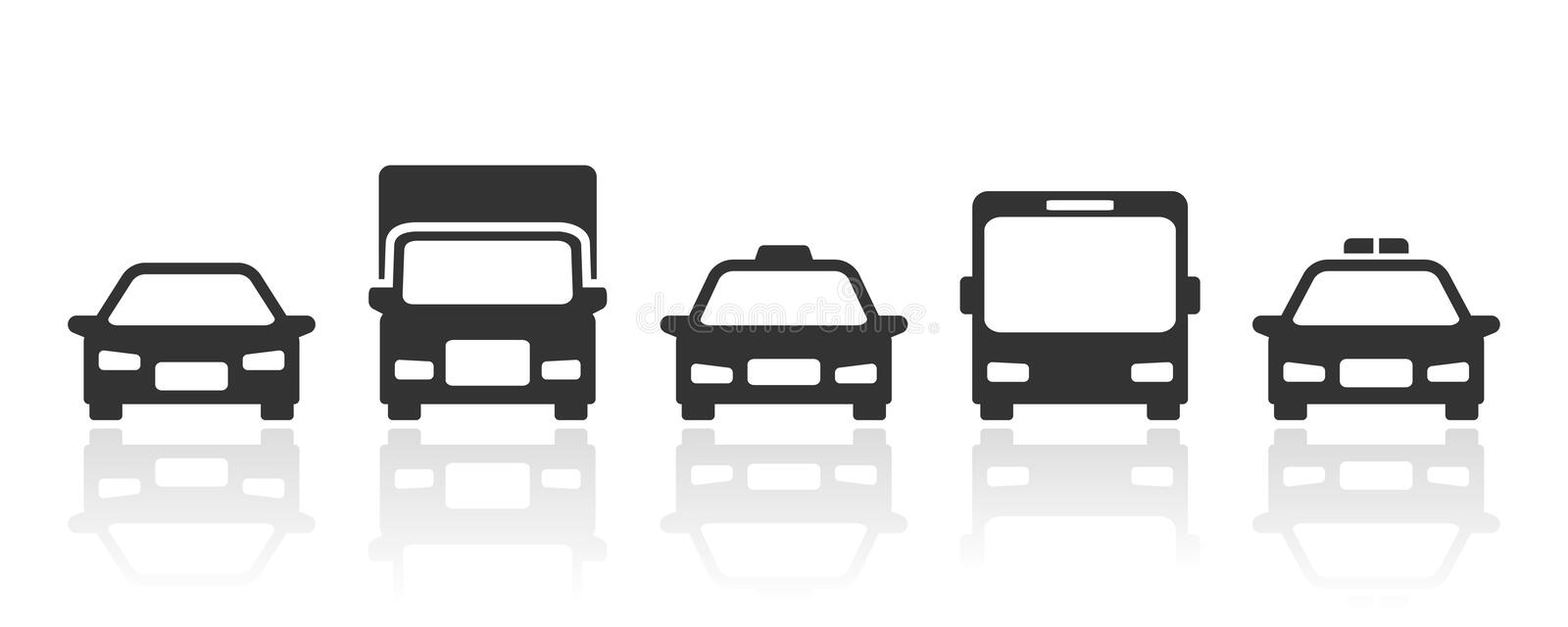 Vector transport icon isolated on white background stock images