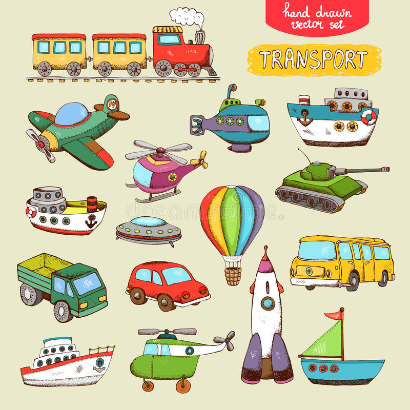 Free Vector Transport Toys Stock Images - 39359894