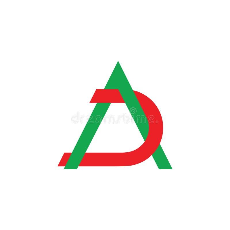 Vector traslapado ligado anuncio abstracto del logotipo de la letra stock de ilustración