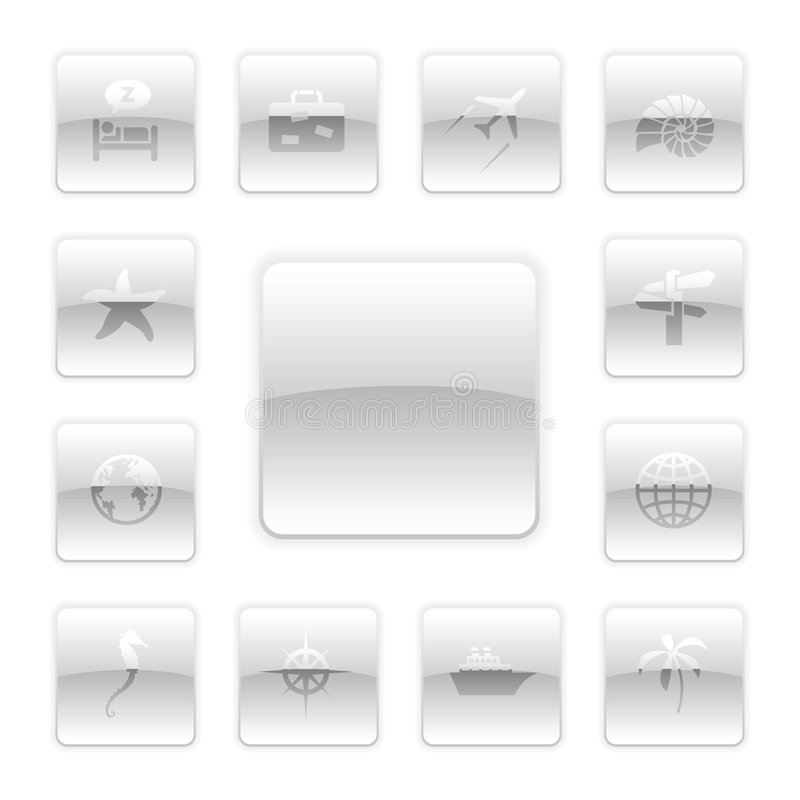 Download Vector Travel Icon Set stock vector. Image of glassy, black - 9094343