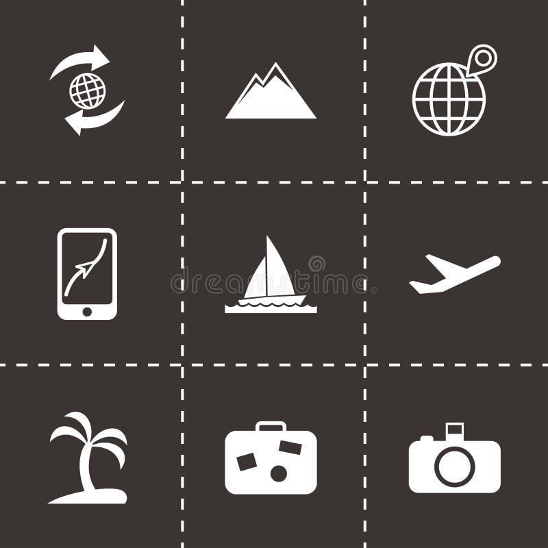 Vector travel icon set royalty free illustration