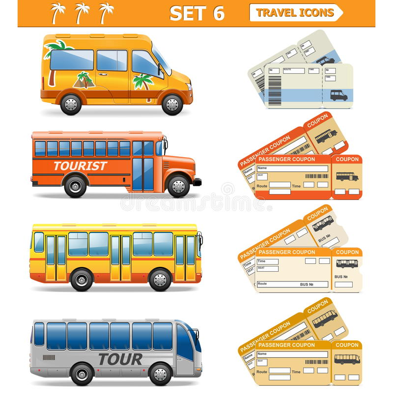 Vector Travel Icons Set 6 royalty free illustration