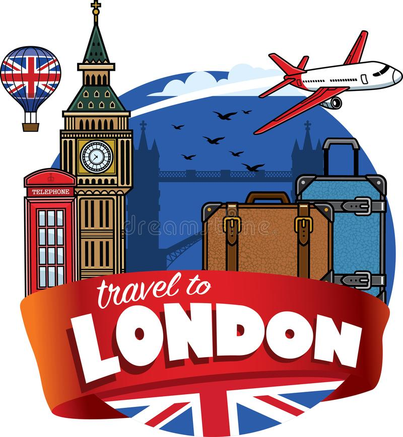 Traveling to city of london stock illustration