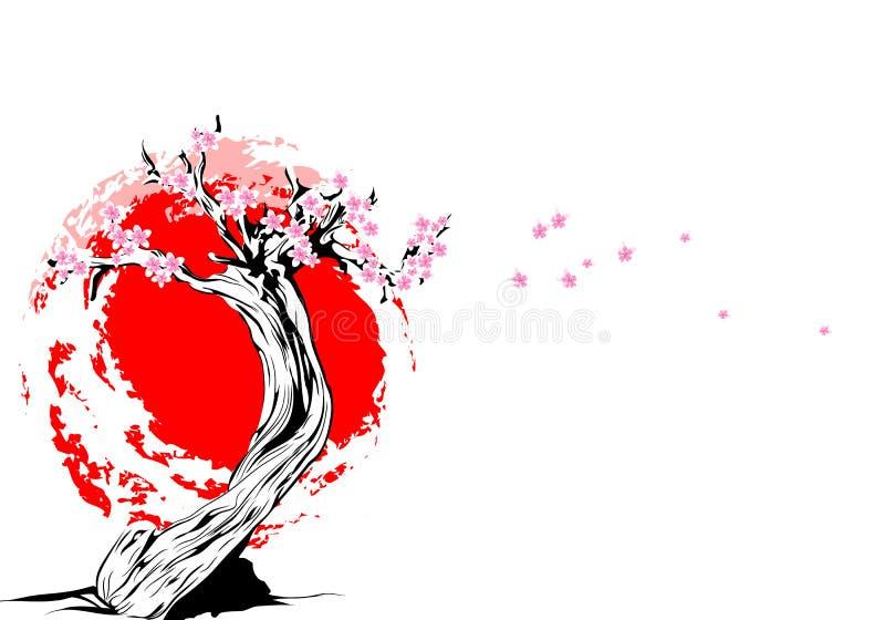Vector Tree. Vector illustration of old tree on white background stock illustration