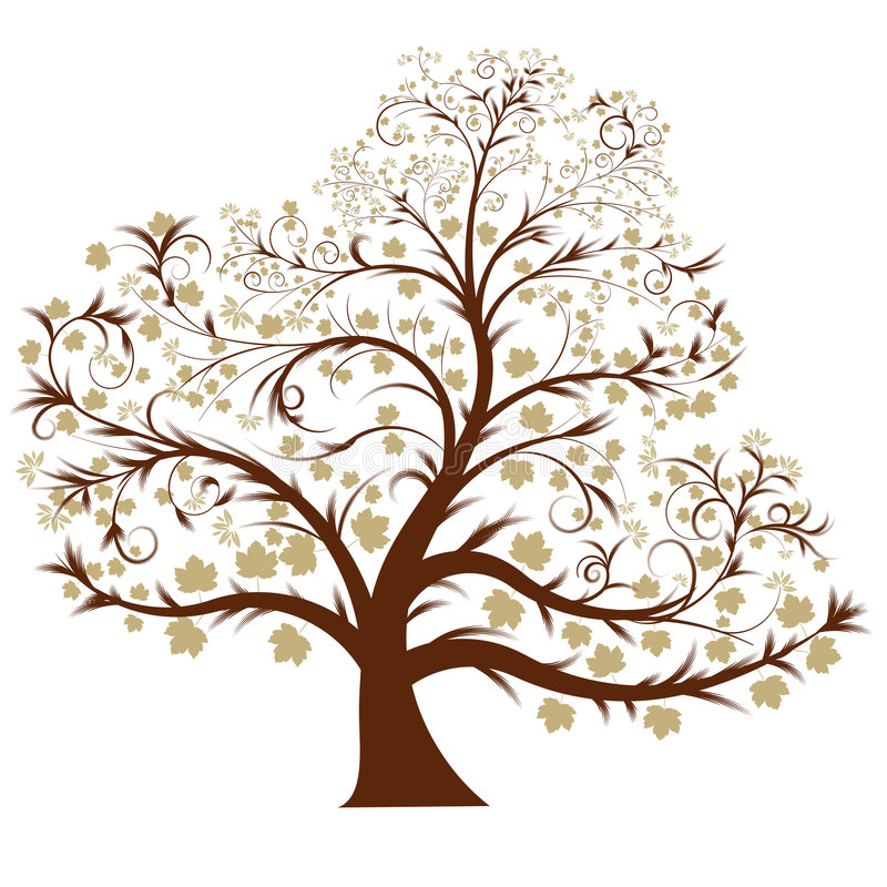 Download Vector tree stock vector. Image of autumn, ornament, clipart - 4289160