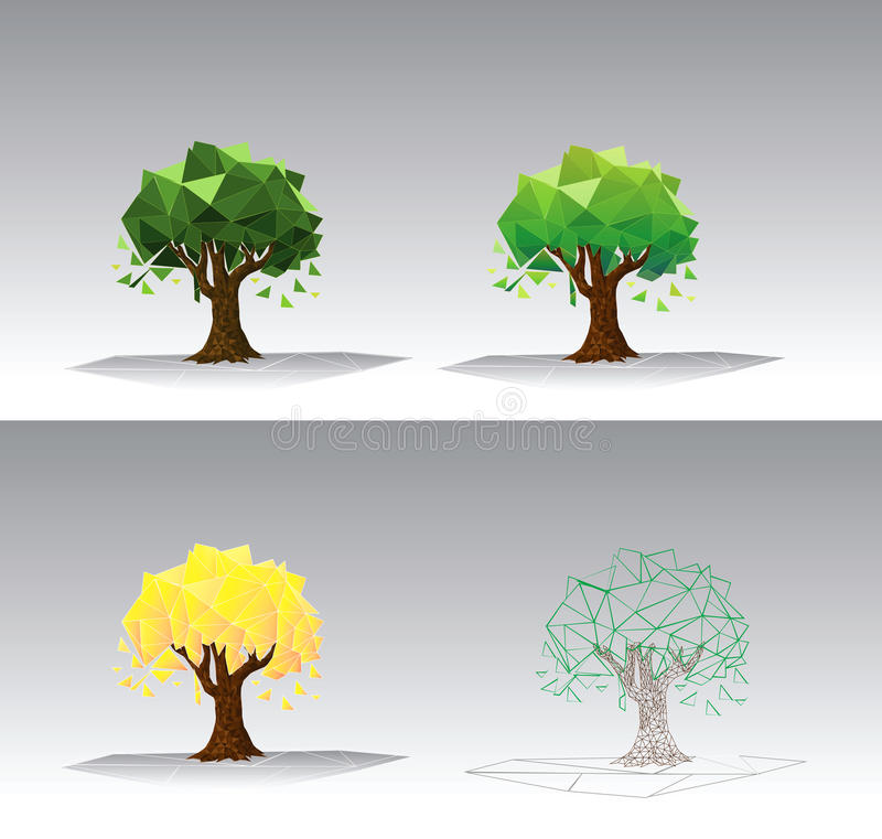 Vector Tree. Illustration of an Abstract Tree with a Geometric Design vector illustration