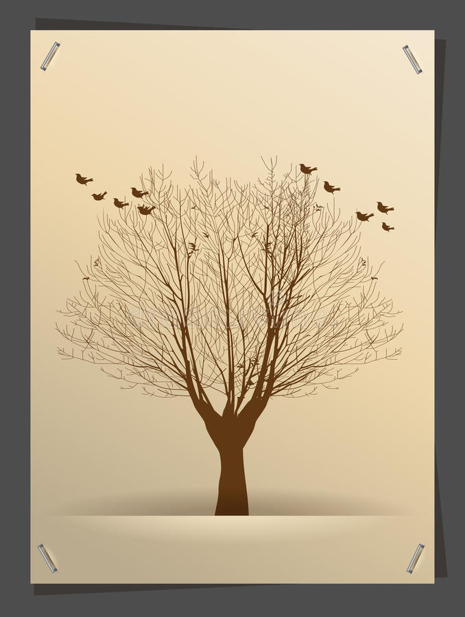 Vector tree silhouette banner idea concept royalty free illustration