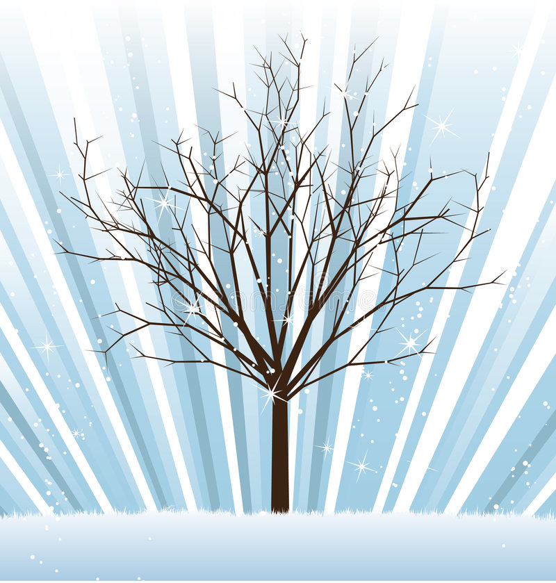Vector_tree_winter illustrazione vettoriale