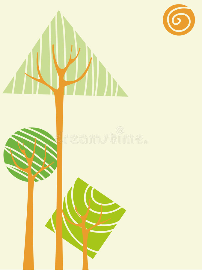Free Vector Trees Stock Image - 8312101