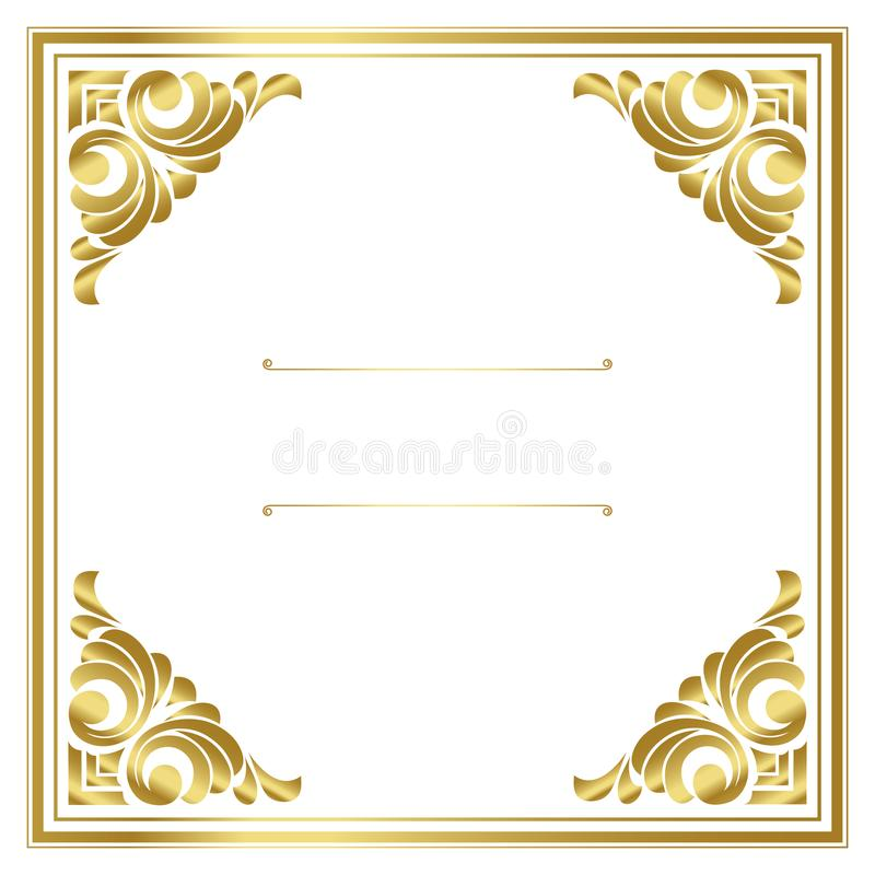 Vector trendy design template for wedding or birthday invitation, brochure, poster or business card. royalty free illustration
