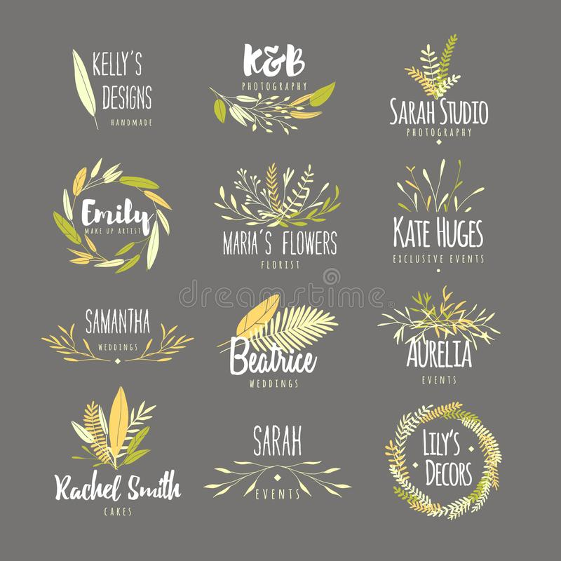 Feminine badges. royalty free illustration