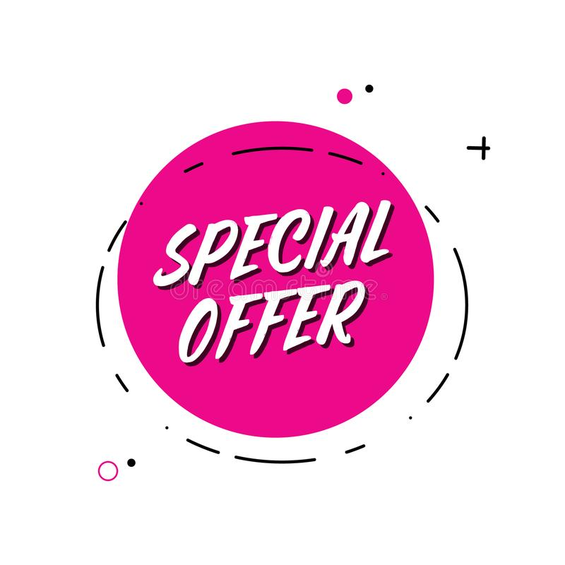 Vector Trendy Minimal Flat Design Special Offer Sign ...