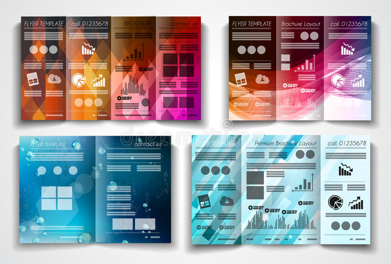 Vector Tri Fold Brochure Template Design Or Flyer Layout Stock