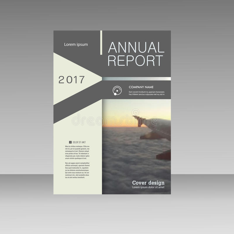 Vector triangle business brochure flyer. Annual report template abstract design presentation vector illustration