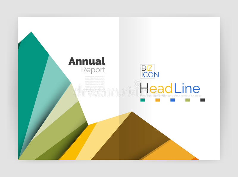 Vector triangle design abstract backgrounds. Vector triangle design abstract background, business annual report templates stock illustration