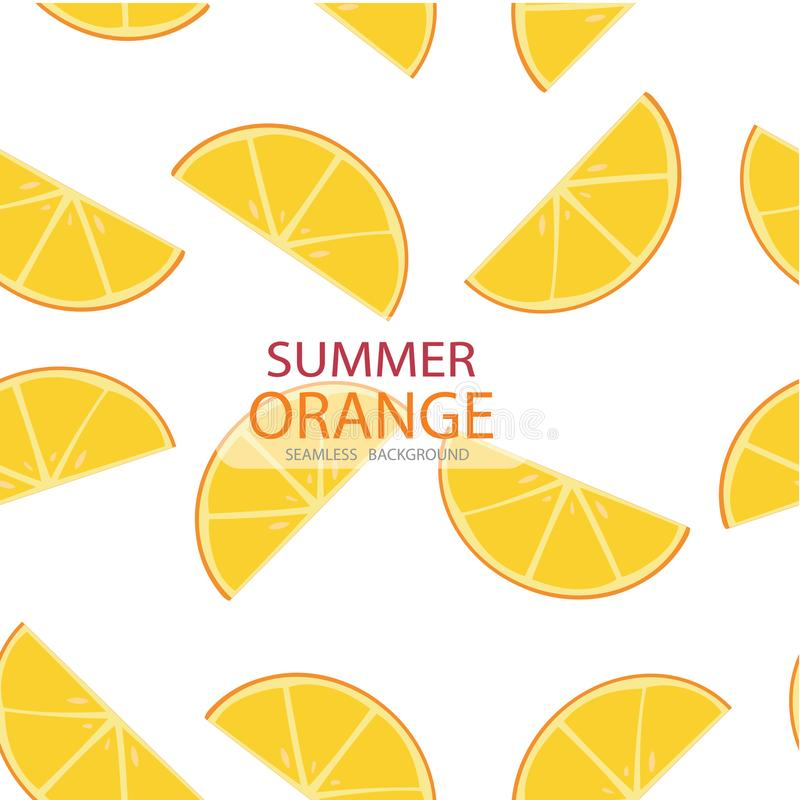 Vector triangle slices of orange pattern, seamless background. Summer concept stock illustration