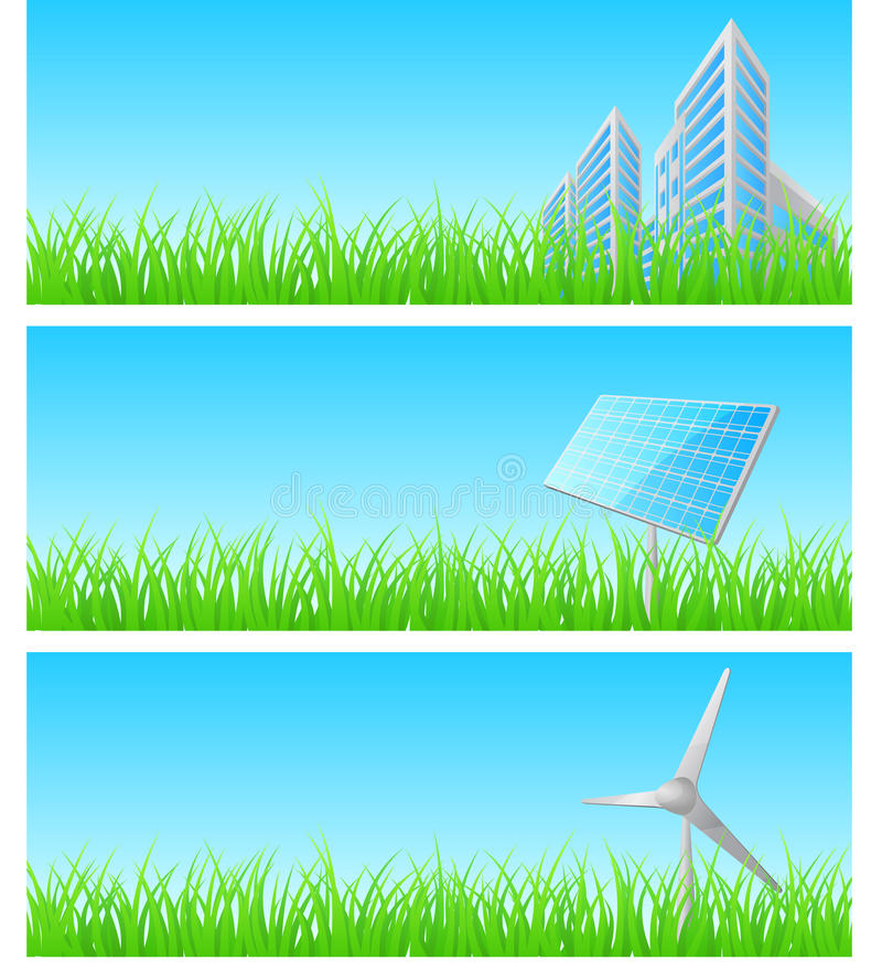 Download Vector Triptych Of Objects On Detailed Grass Stock Illustration - Image: 18565149