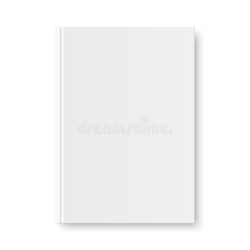 Vector trocista acima da tampa vazia branca do livro ilustração stock